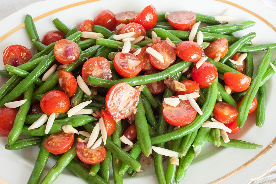 Warm Green Bean Salad with Tomatoes