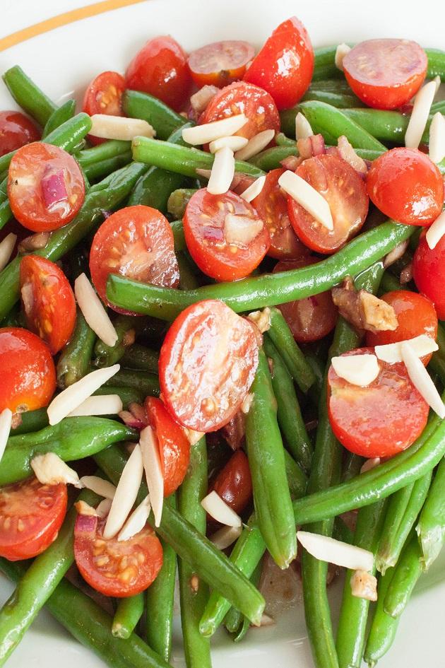 Warm Tomato and Green Bean Salad