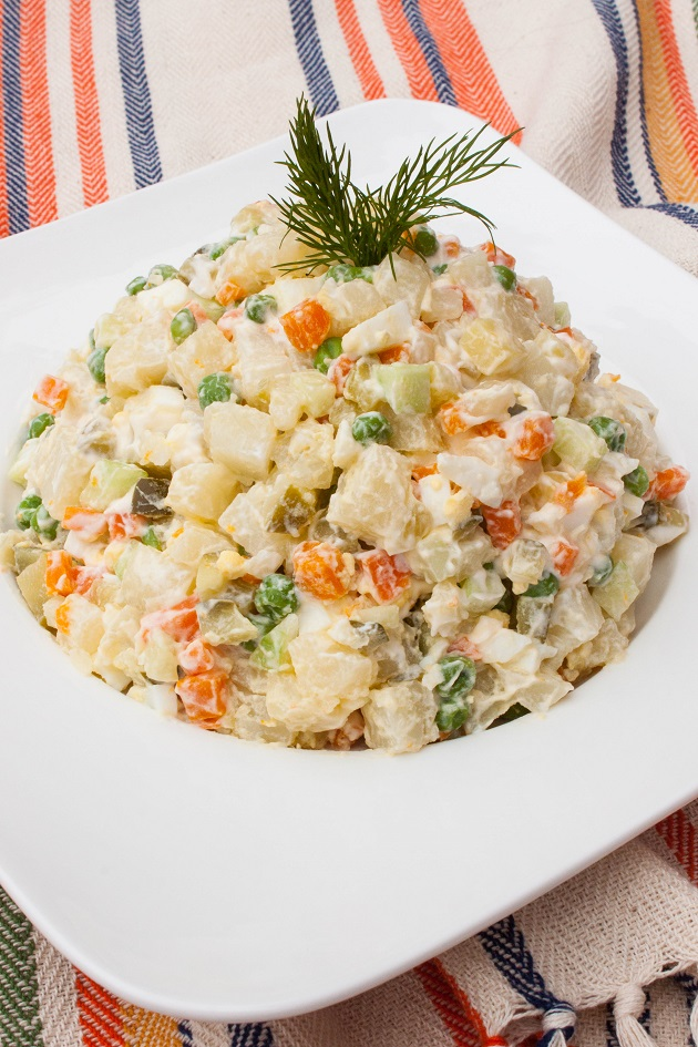 Russian Famous Potato Salad - Olivier