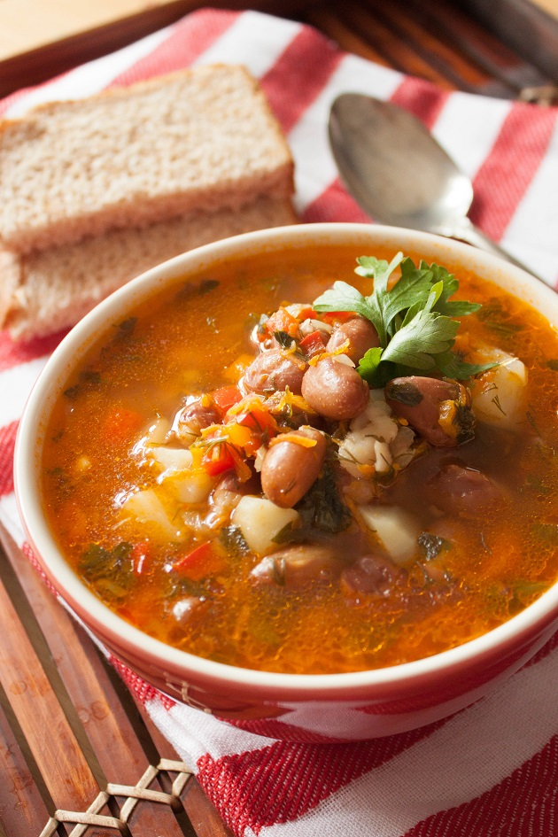 Bean Soup with Vegetables
