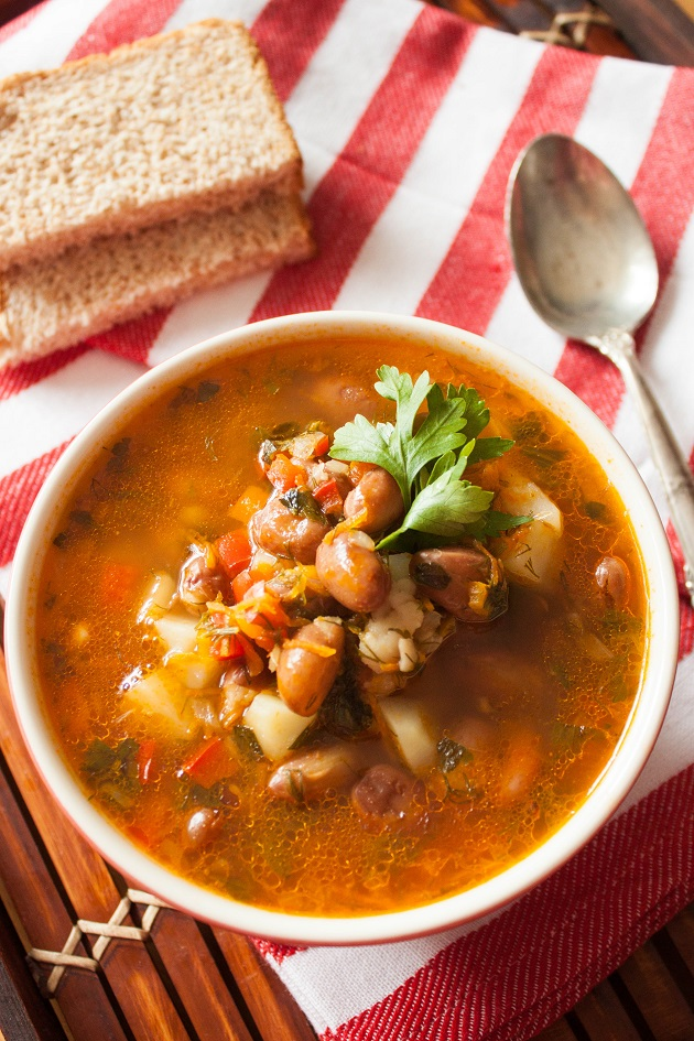 Vegetable Soup with Beans