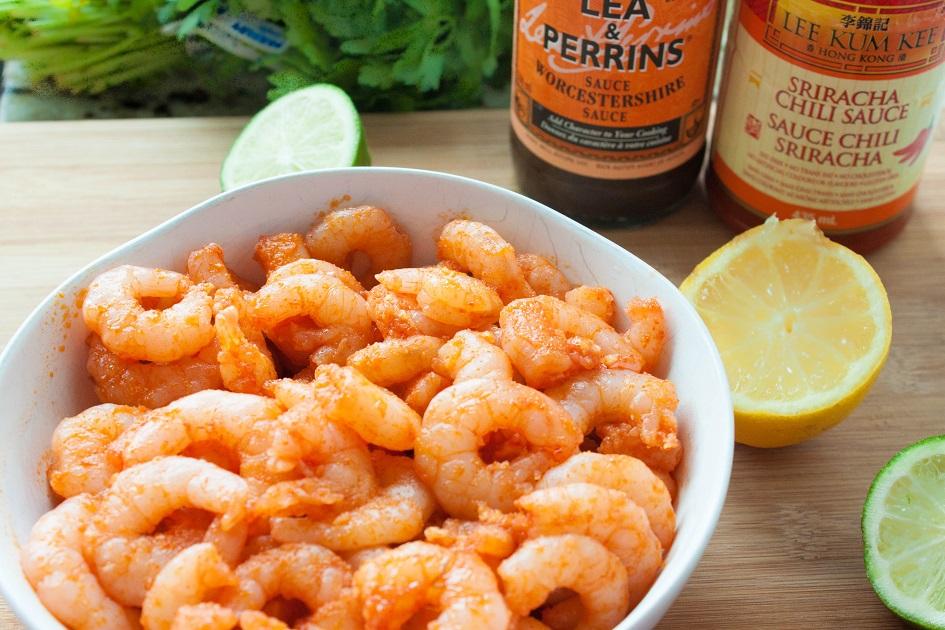 Spicy shrimp ingredients