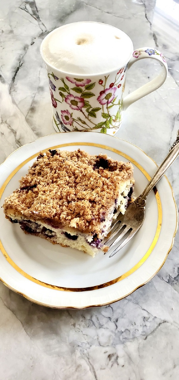 Coffee Blueberry Cake