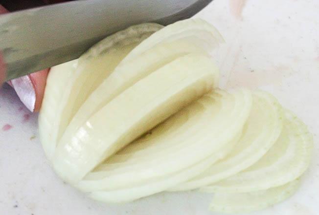 cut the onions