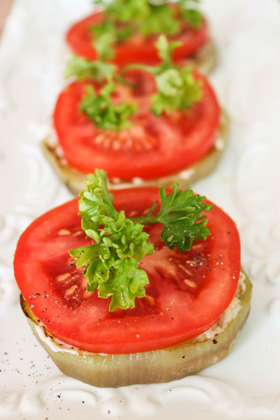Piquant  Aubergine with Tomato and Garlic