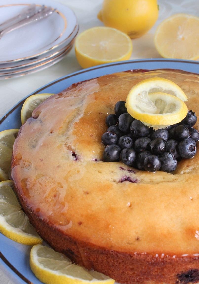 Lemon Blueberry Cake - burst of flavor and color!