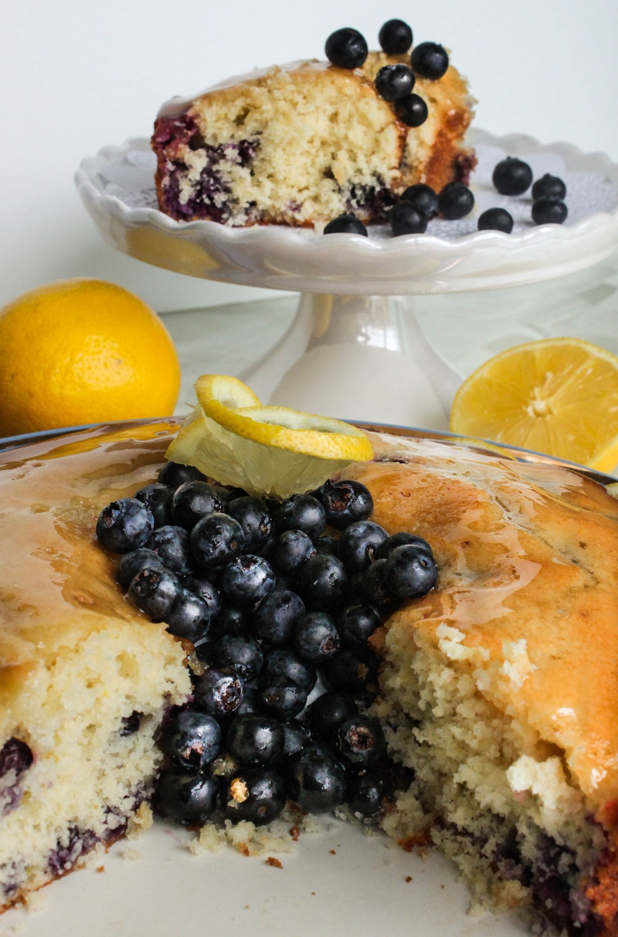 Blueberry Lemon Cake with Lemon Sugar Glaze
