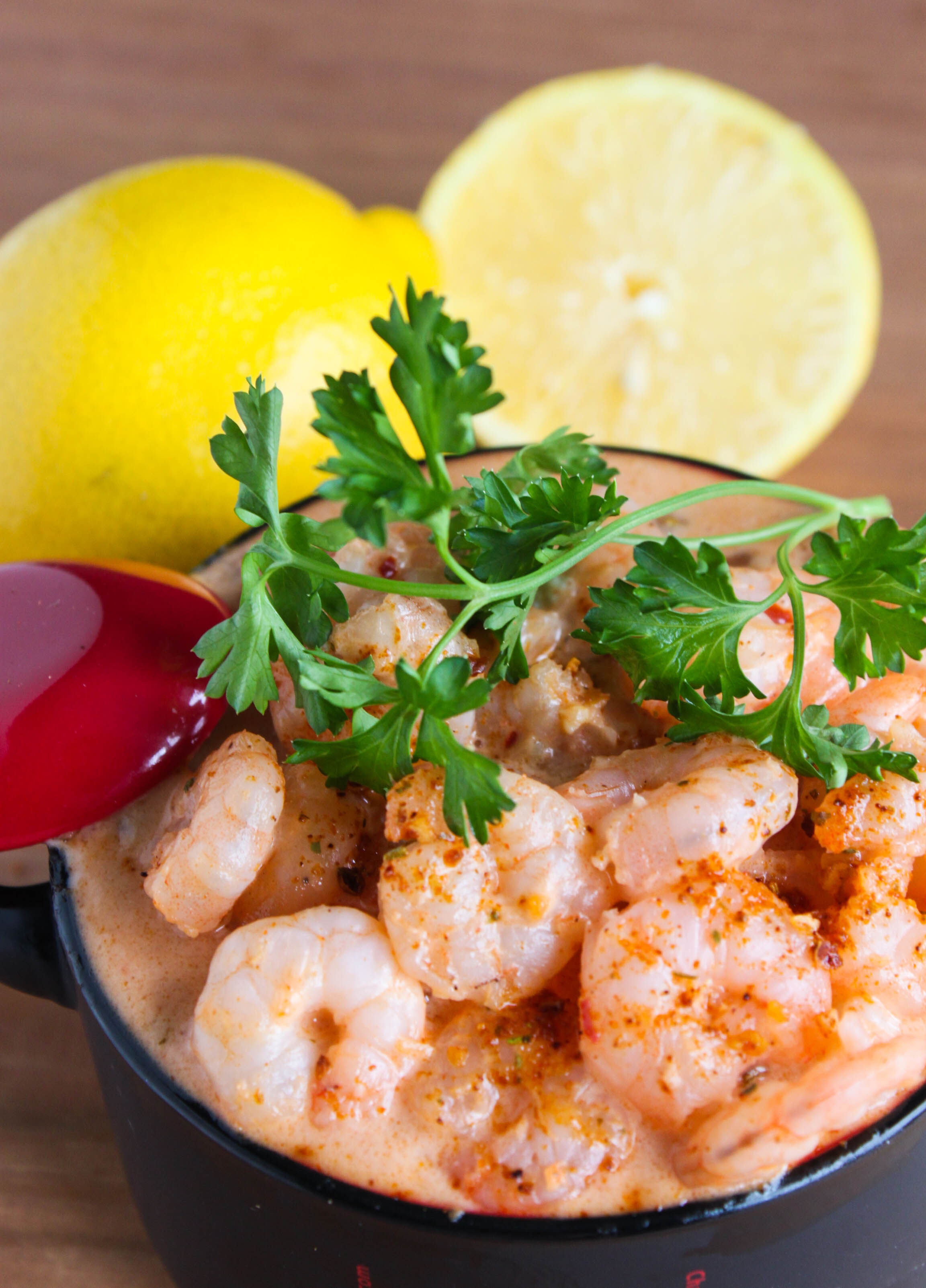 Spicy Shrimp in a Creamy Sauce. Piquant and easy to prepare.