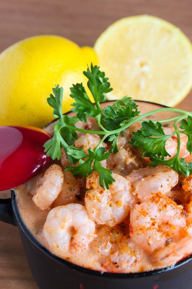 Spicy Shrimp in a Creamy Seafood Sauce