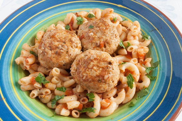 Delicious and Tender Chicken Meatballs with Rice