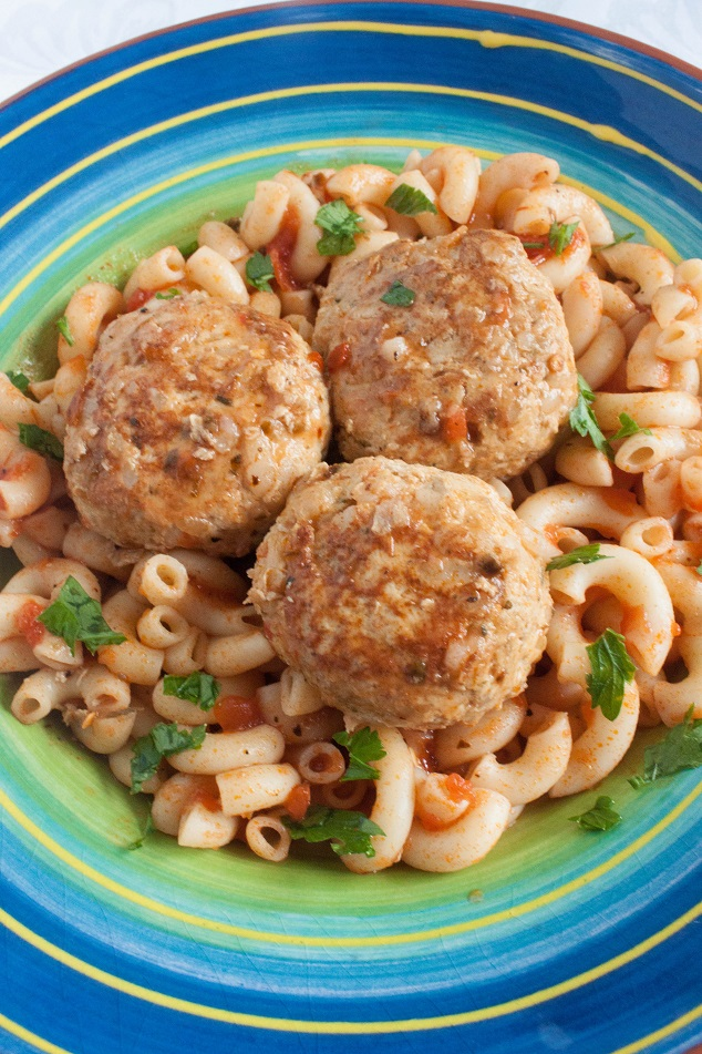 Chicken Meatballs with Rice - Russian Tefteli