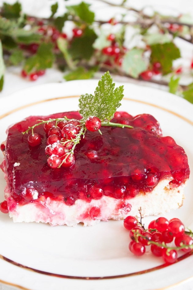 Delicious Summertime Cheesecake with Red Currant