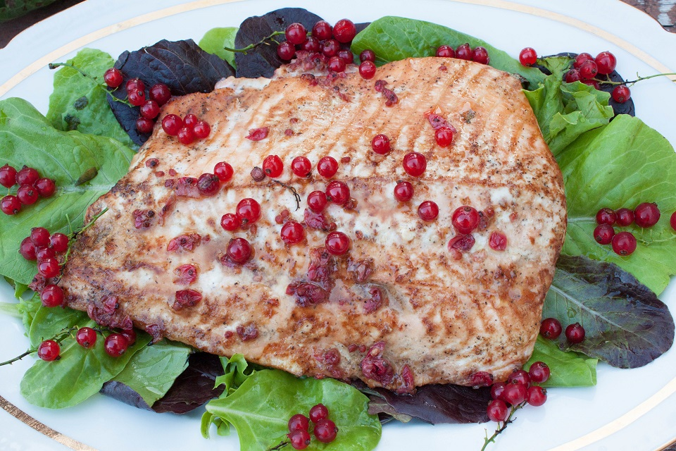 Delicious Red Currant Marinated Salmon